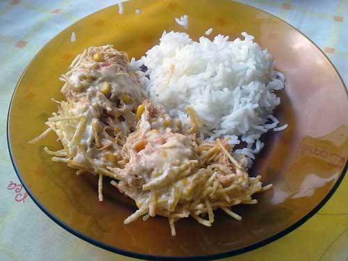 Almoço de Sábado - Fricasê com Arroz