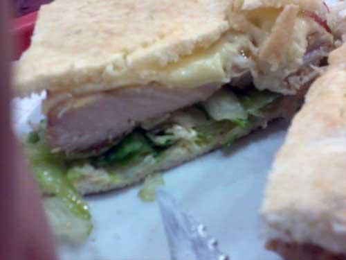 QG Pastéis - Sanduíche QG Light - Pão Sírio, Filé de Frango, Mussarela, Alface, Tomate - Recheio