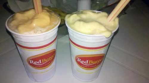Red Burger - Suco de Acerola e Creme de Maracujá