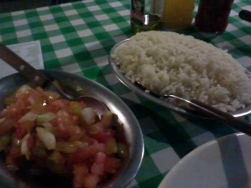 Buteko do Chaguinha - Acompanhamentos: Arroz e Vinagrete