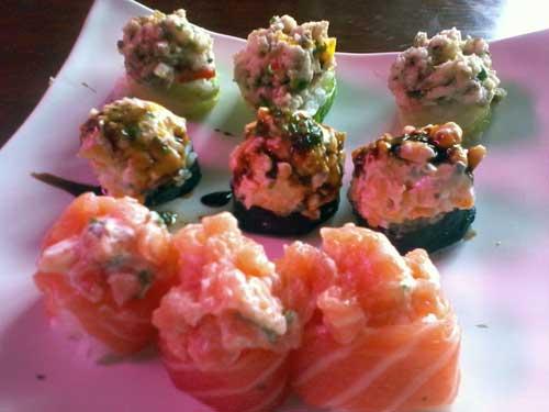 Hakone Restaurante - Gunkans: Gunka Ceviche, Shiromi Gunka e Jyo