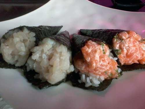 Hakone Restaurante - Temakis: Peixe Branco e Salmão Completo