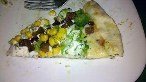 Pizza à Bessa - Pedaço: Brocólis com Milho
