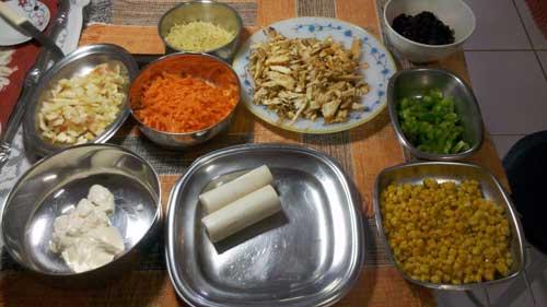 Receita Salpicão - Ingredientes