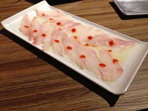 Tayo Restaurante Japonês - Carpaccio de Robalo