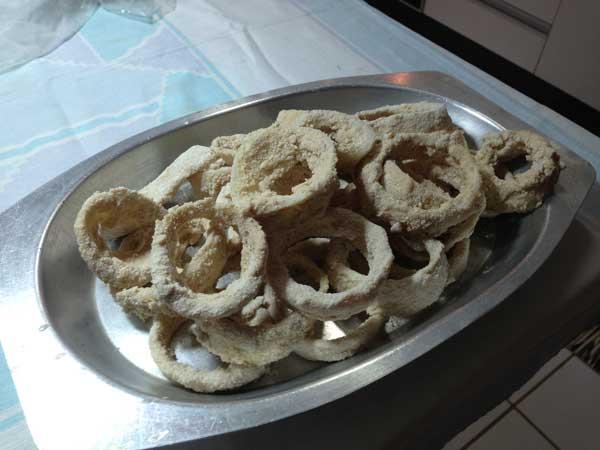 Receita: Onion Rings - Cebolas Empanadas
