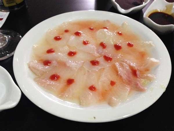 Nirá Restaurante Japônes - Carpaccio de Robalo