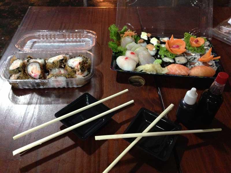 Fábrica de Sushi: Embalagem Aberta