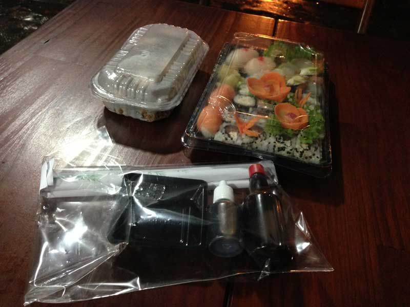 Fábrica de Sushi: Embalagem