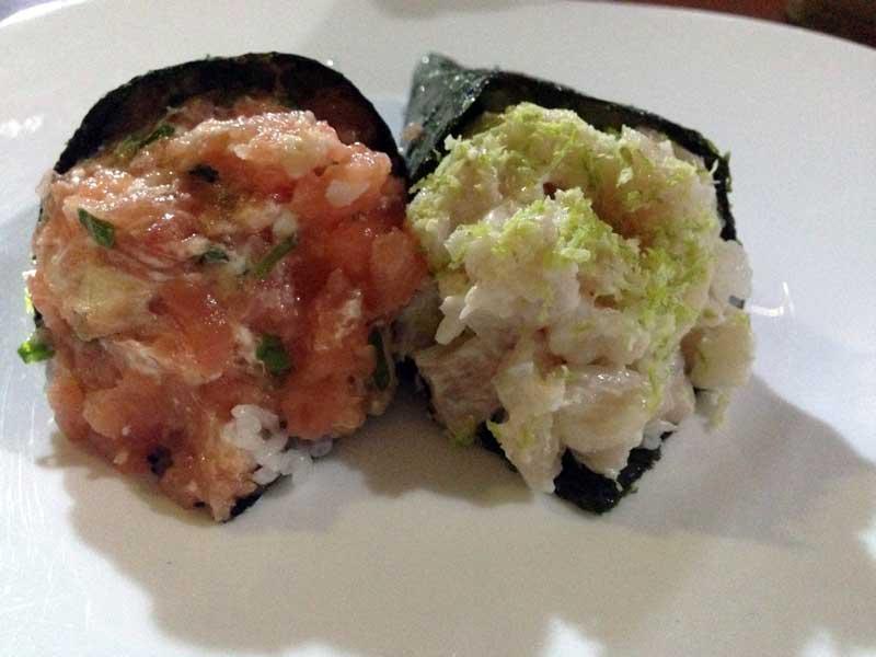 Ono Sushi Restaurante - Temakis: Robalo e Philadelfia