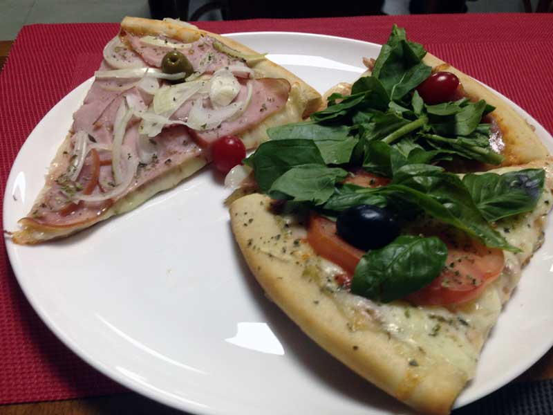 Mania do Pedaço - Pizzas: Lombo Canadense, Presunto Parma e Margherita